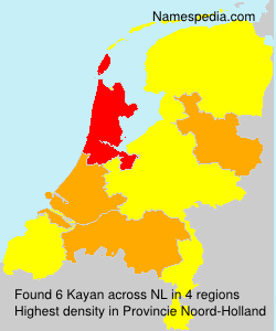 Surname Kayan in Netherlands