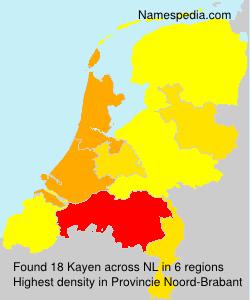 Surname Kayen in Netherlands