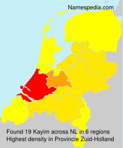 Surname Kayim in Netherlands