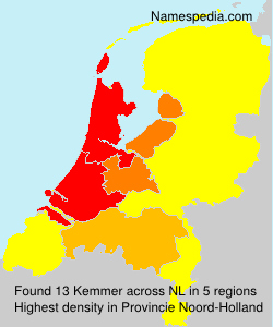 Surname Kemmer in Netherlands