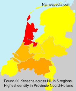 Surname Kessens in Netherlands