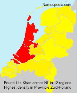 Surname Khan in Netherlands