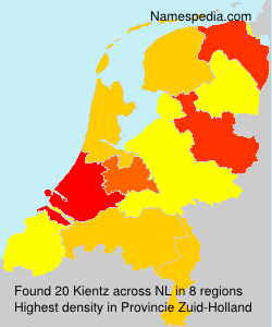 Surname Kientz in Netherlands