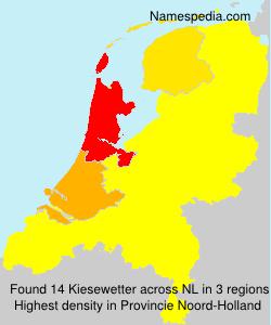 Familiennamen Kiesewetter - Netherlands