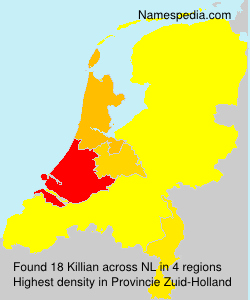 Surname Killian in Netherlands