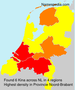 Surname Kina in Netherlands