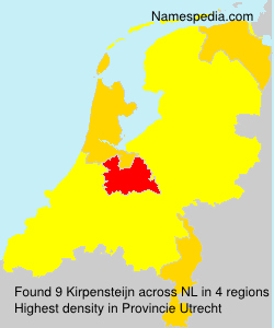 Surname Kirpensteijn in Netherlands
