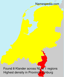 Surname Klander in Netherlands