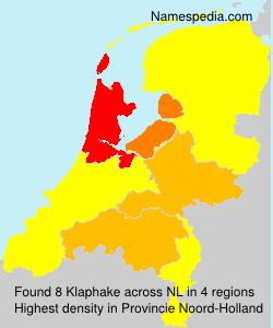 Surname Klaphake in Netherlands