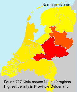 Surname Klein in Netherlands