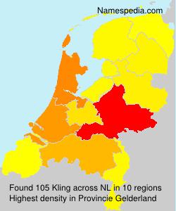 Familiennamen Kling - Netherlands
