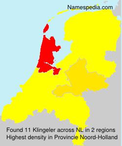 Familiennamen Klingeler - Netherlands