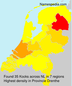 Surname Kocks in Netherlands