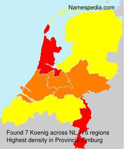 Familiennamen Koenig - Netherlands