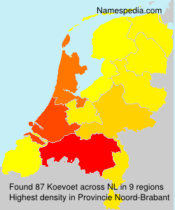 Surname Koevoet in Netherlands