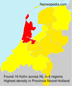 Surname Kohn in Netherlands