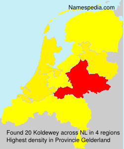 Familiennamen Koldewey - Netherlands