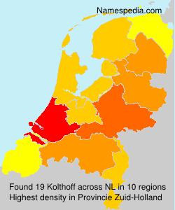 Familiennamen Kolthoff - Netherlands