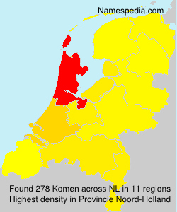 Surname Komen in Netherlands
