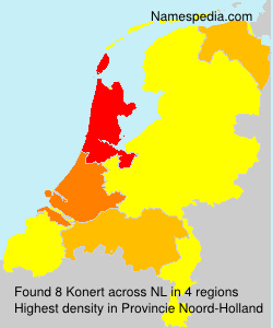 Surname Konert in Netherlands