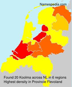Familiennamen Koolma - Netherlands