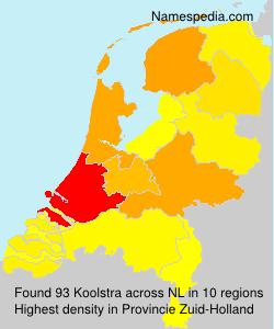 Surname Koolstra in Netherlands
