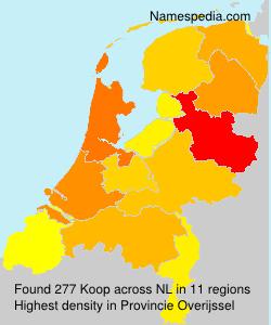 Surname Koop in Netherlands