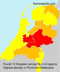 Surname Koopsen in Netherlands