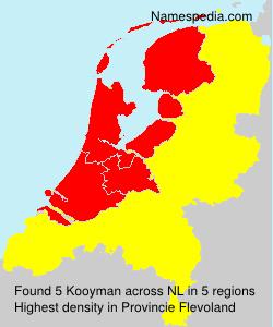 Surname Kooyman in Netherlands