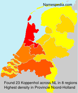 Familiennamen Koppenhol - Netherlands