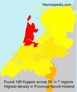 Surname Koppes in Netherlands