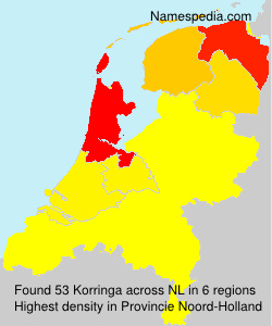 Surname Korringa in Netherlands