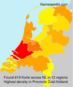 Surname Korte in Netherlands
