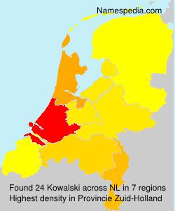 Surname Kowalski in Netherlands