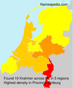 Surname Krahmer in Netherlands
