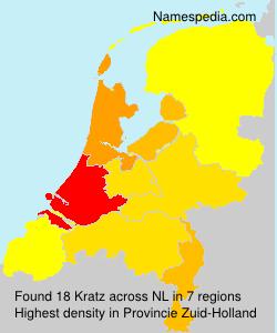 Familiennamen Kratz - Netherlands