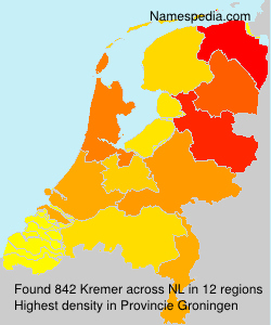 Surname Kremer in Netherlands
