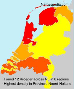 Familiennamen Kroeger - Netherlands