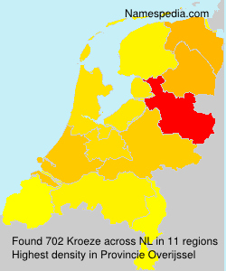 Surname Kroeze in Netherlands