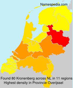 Surname Kronenberg in Netherlands