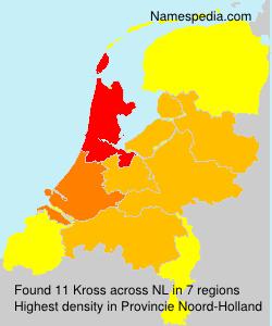 Surname Kross in Netherlands