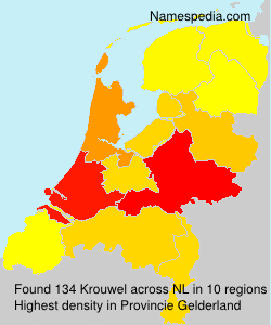 Surname Krouwel in Netherlands