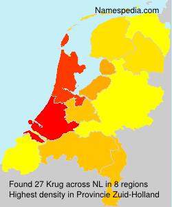 Surname Krug in Netherlands
