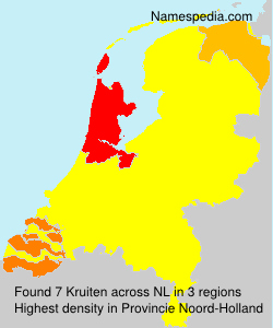 Surname Kruiten in Netherlands
