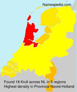 Surname Krull in Netherlands