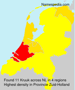Surname Kruuk in Netherlands