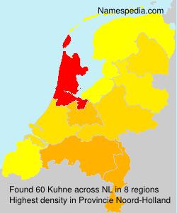 Familiennamen Kuhne - Netherlands