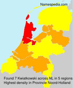 Surname Kwiatkowski in Netherlands