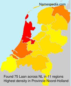 Surname Laan in Netherlands