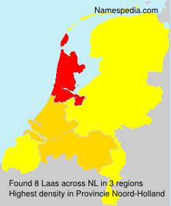 Surname Laas in Netherlands